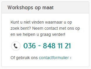 Workshoppen - Workshops